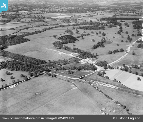 Photograph of Countryside around Bradmore Way, Brookmans Park, 1928 Original Britain From Above caption