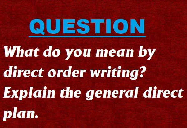 Direct order essay