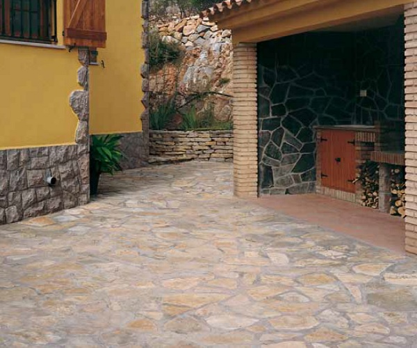 Piedra natural irregular materiales de construcci n para - Suelo piedra natural ...