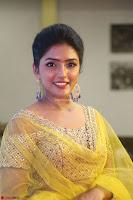 Actress Eesha in Yellow Choli Blue Ghagra at Darshakudu music launch 011.JPG