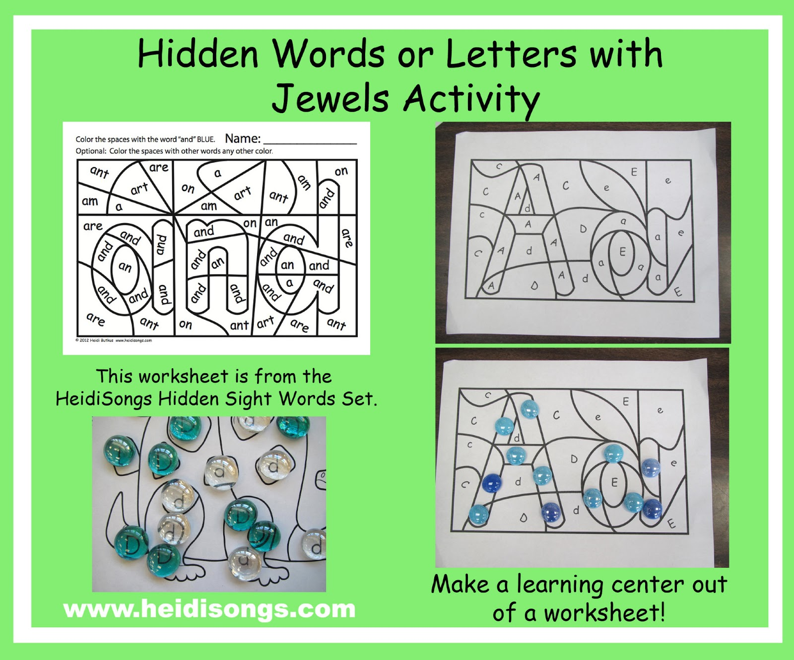Common Core Literacy Centers How To Create A Manipulative Out Of A Worksheet