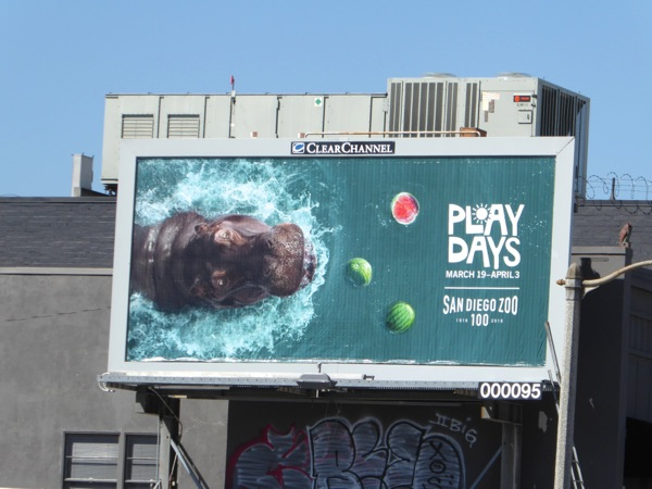 san Diego Zoo Play Days hippo billboard