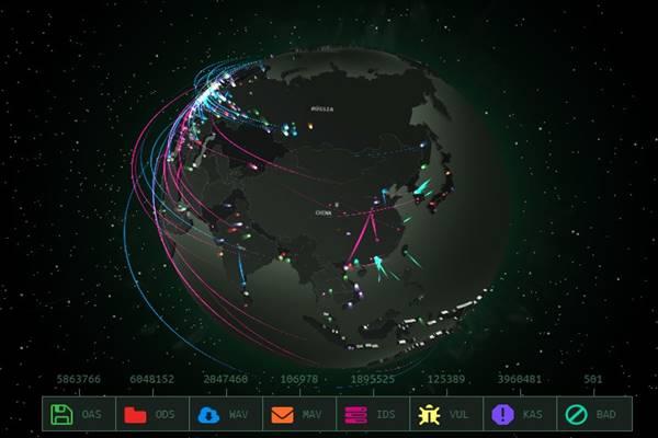 Kaspersky Labs - Acompanhe todos os ciberataques do mundo em tempo real