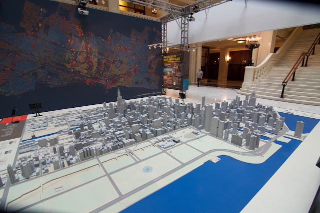 Maqueta de Chicago en la Chicago Architecture Foundation