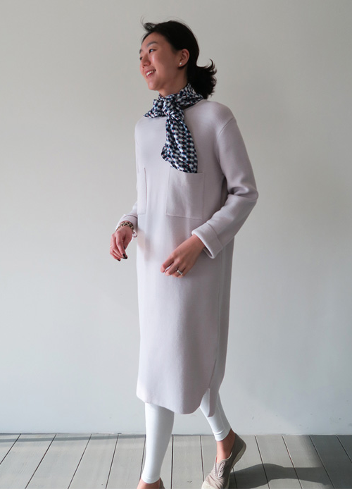 Twin Pockets Knit Dress