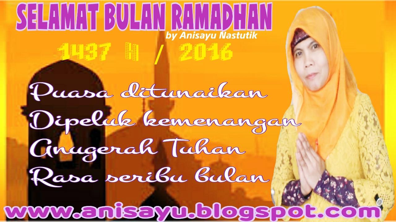 Pantun Bulan Ramadhan  H