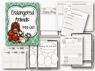 https://www.teacherspayteachers.com/Product/Endangered-Animal-Unit-Common-Core-Aligned-1843792