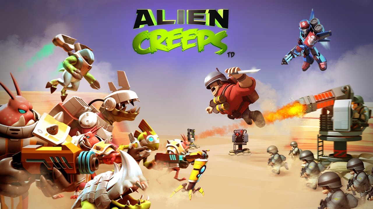 Alien creeps android game