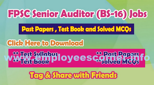 FPSC Senior Auditors Jobs 2017 Syllabus BS-16
