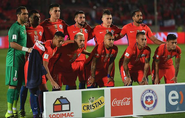 Formación de Chile ante Perú, Clasificatorias Rusia 2018, 11 de octubre de 2016