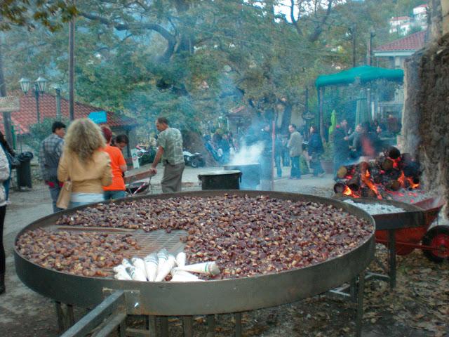 Ξεκίνησε η τριήμερη Γιορτή Κάστανου στην Άρνα Λακωνίας