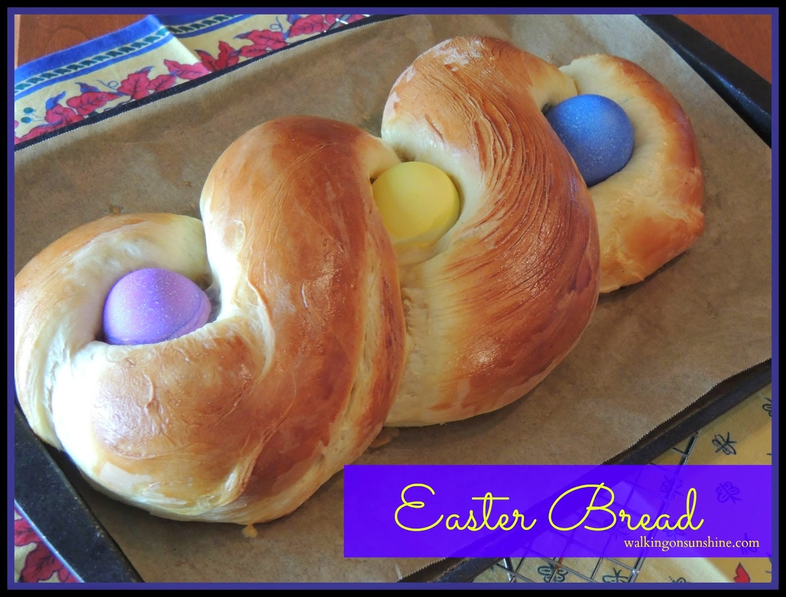 Start a new family tradition this year with this delicious recipe for Easter Bread on Walking on Sunshine Recipes