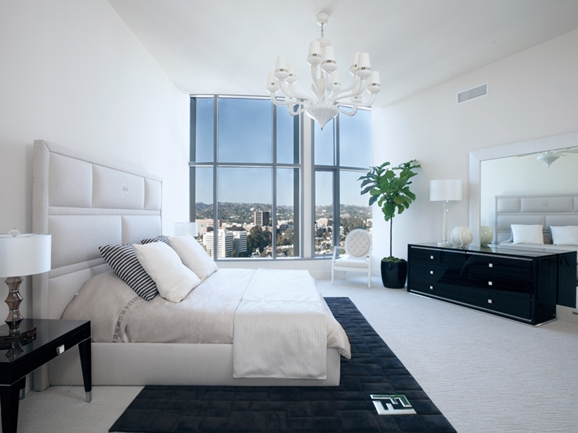 Gorgeous modern white bedroom