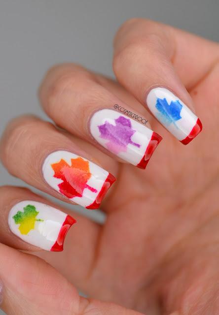 Maple Leaf Nail Art