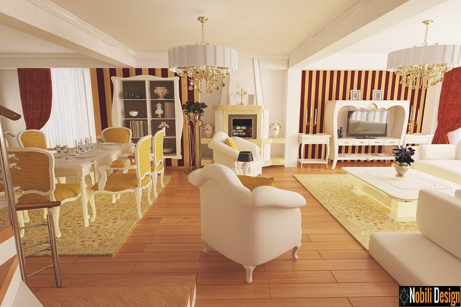 Design interior living clasic si modern - Design interior vila clasica Brasov