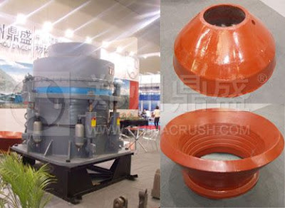 High chrome alloy materials cone crusher line can be
