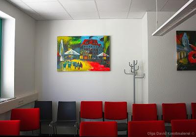 Bilderreihe für Besprechungsraum, Kunstmalerei