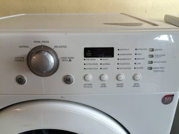 LG front load washer for sale cheap - Oklahoma City Craigslist