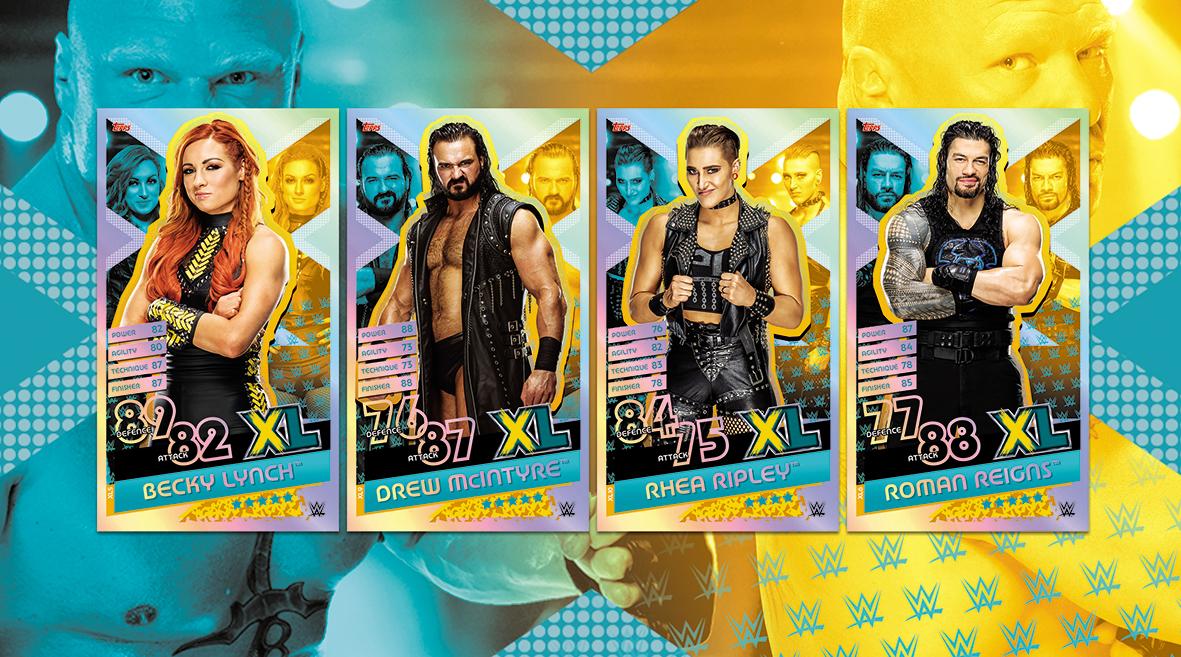 Lot De 20 Cartes Topps WWE Slam Attax Reloaded