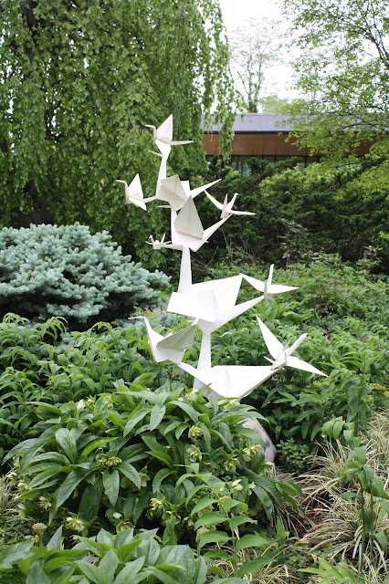 Large scale origami art at The Morton Arboretum