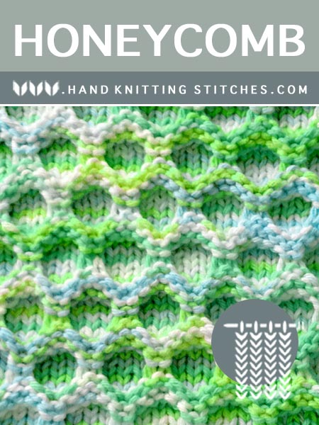 The Art of Hand Knititng - Honeycomb Slip Stitch Pattern