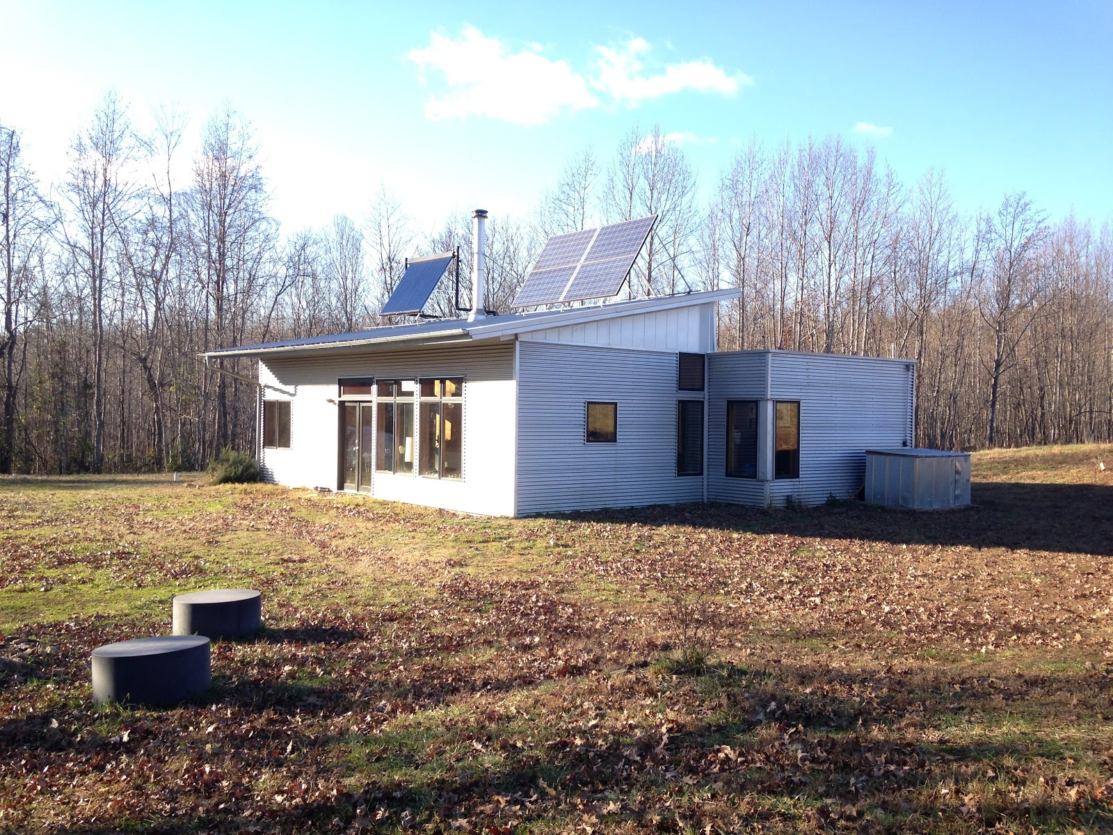 Sip passive solar house kit in winter performs without for Passive solar prefab homes