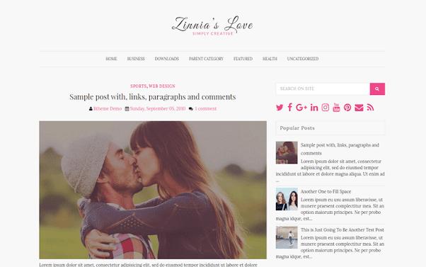 Zinnias Free Blogger Template