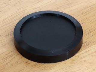 UN カブセ式 キャップ 37mm ブラック UNP-5537表側