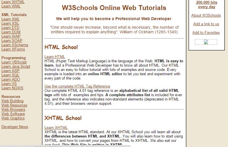 W3Schools - Then