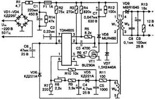 TDA4605 power supply