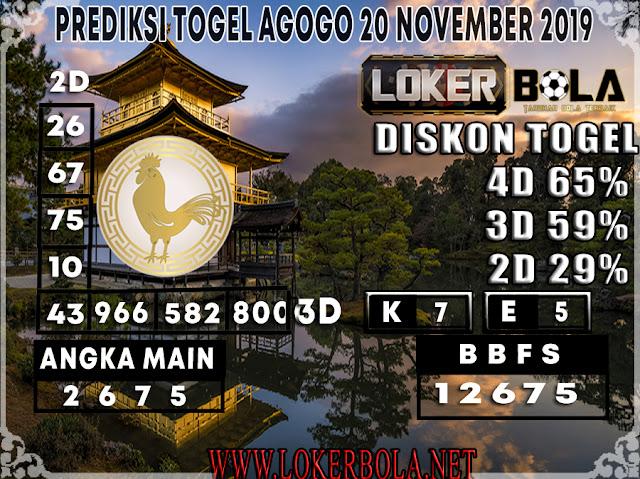 PREDIKSI TOGEL AGOGO LOKERBOLA 20 NOVEMBER 2019