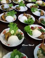 Daging ayam dingin segar dan makanan Indonesia