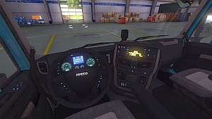 Iveco Hi-Way Dark interior + new dashboard lights