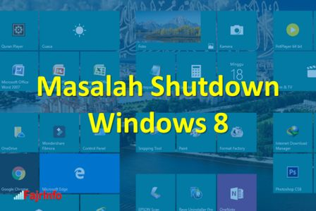 Cara Mengatasi Masalah Shutdown Pada Windows 8