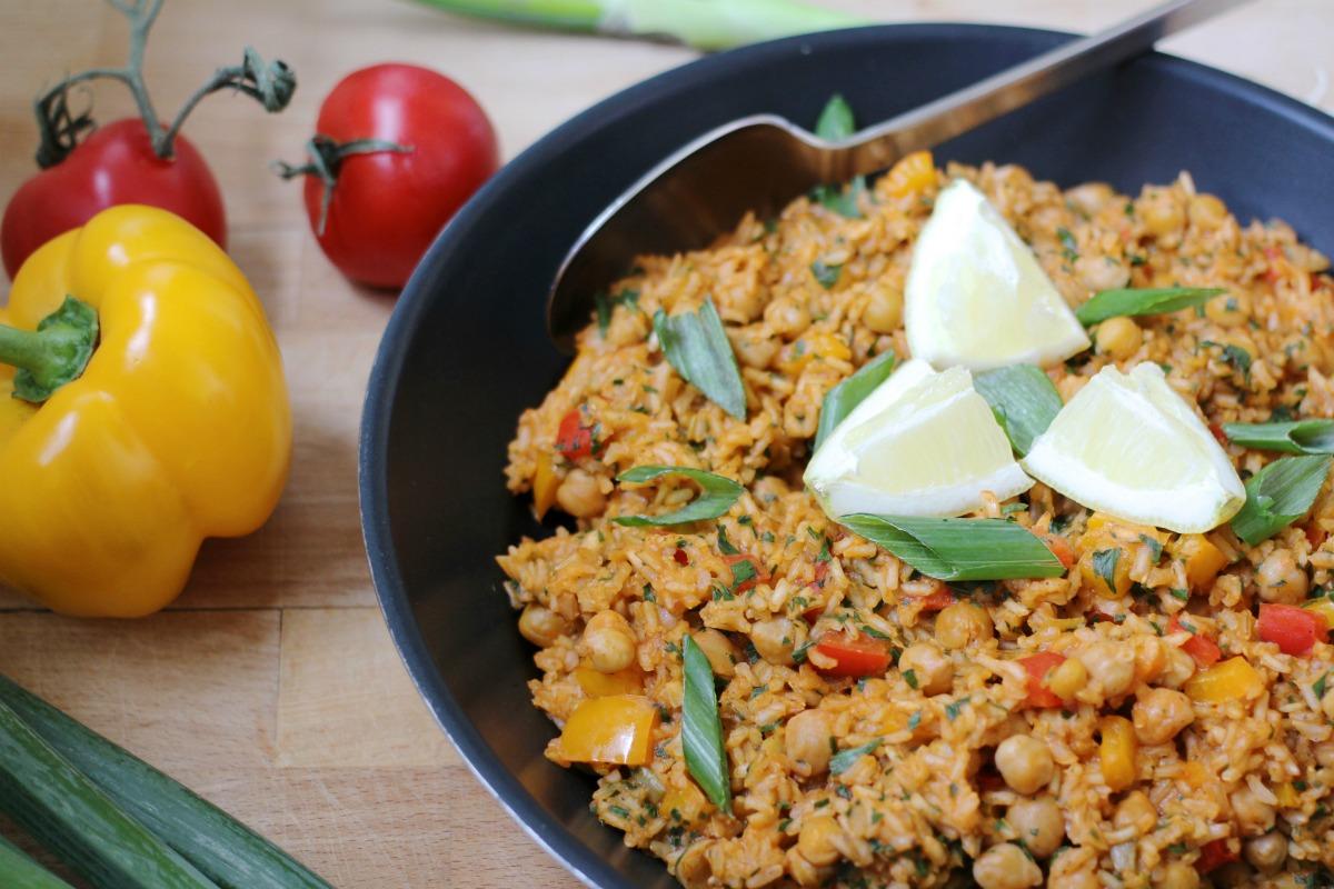 Veganer Gemüse Reis