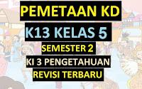 Pemetaan KD K13 Kelas 5 Semester 2 KI 3 Pengetahuan Revisi Terbaru
