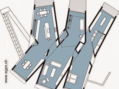 Plano de planta principal de la casa del Cañón Topanga