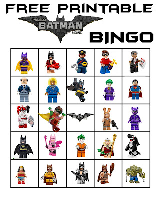 Free Lego Batman Printable Bingo