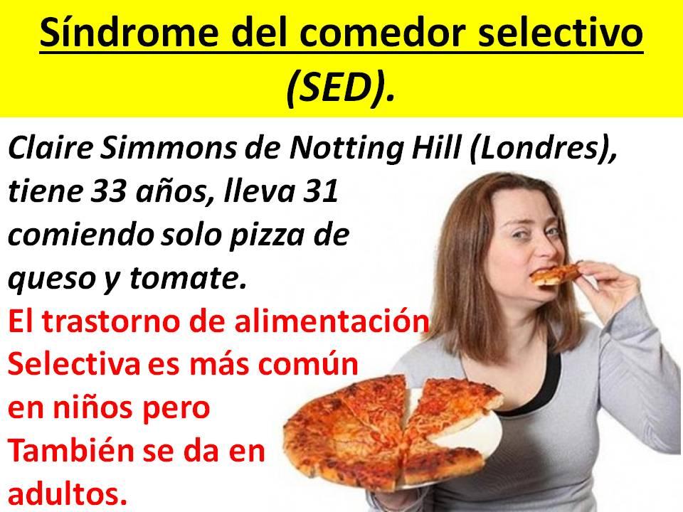NUTRICIN POSITIVA Sndrome del Comedor Selectivo
