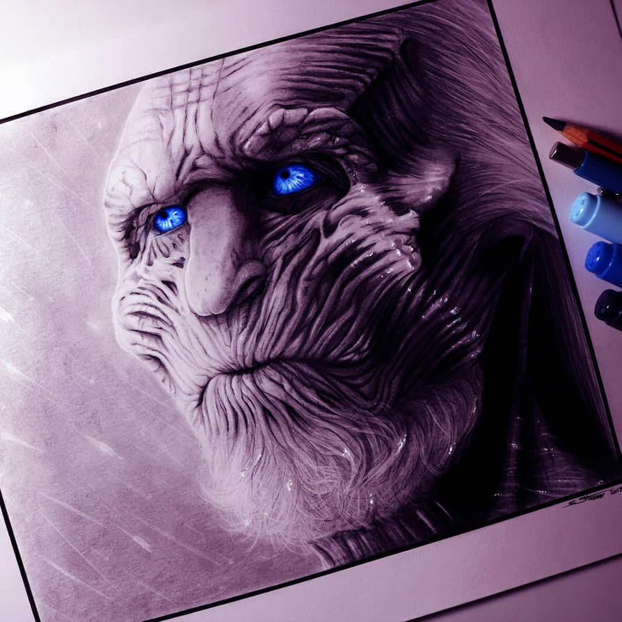 02-White-Walker-C-Straver-Fantasy-Movie-Characters-Drawings-www-designstack-co
