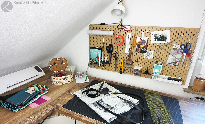kreativ oder primitiv kreativraum diy workspace. Black Bedroom Furniture Sets. Home Design Ideas