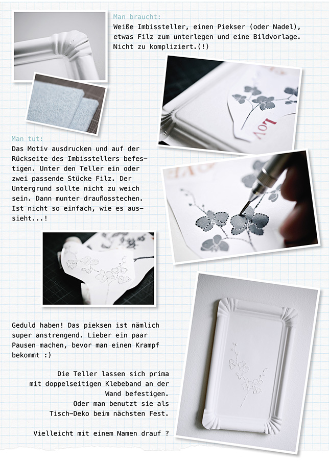 Ynas Design Blog, DIY, Imbissteller Pieksbilder