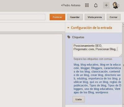 Posicionar Blog en Google, Palabras Clave, Etiquetas