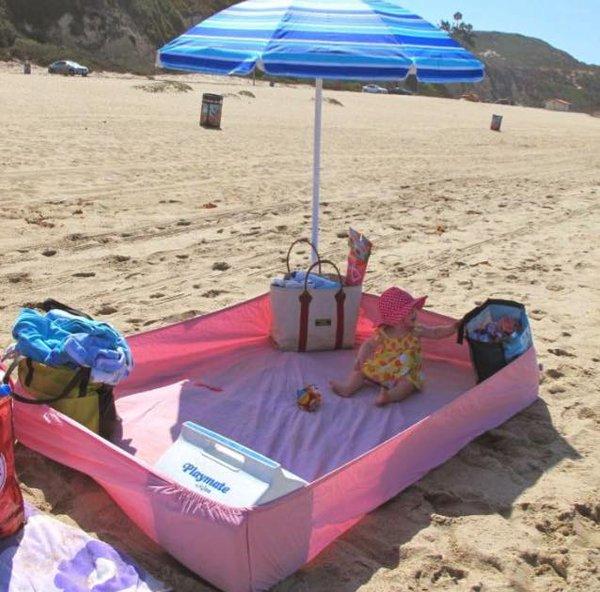 O Lado de Cá  Conforto para o bebe na praia d5852de2a5