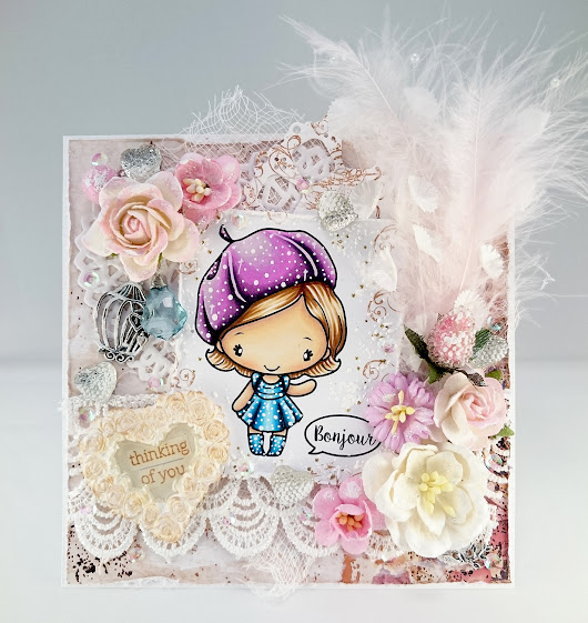 Bonjour Anya by The Greeting Farm Shabby Chic card