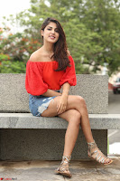 Rhea Chakraborty in Red Crop Top and Denim Shorts Spicy Pics ~  Exclusive 043.JPG