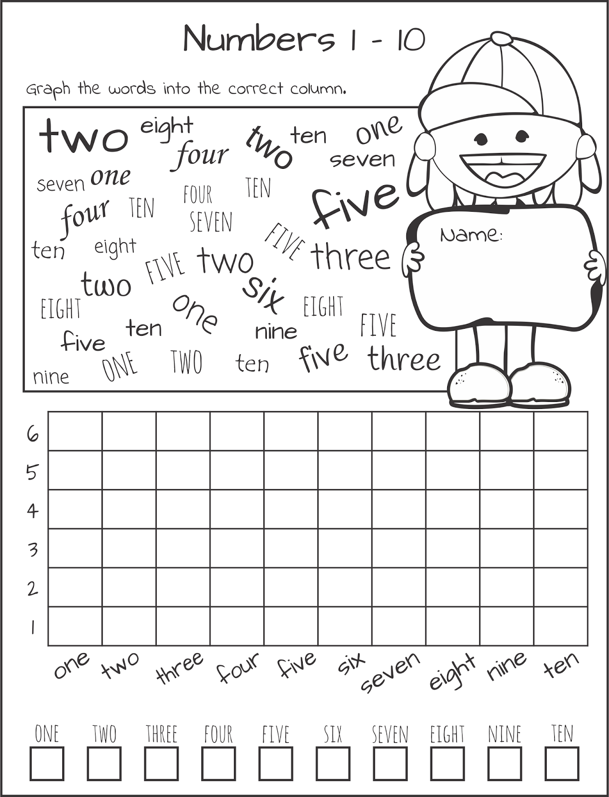 Km Classroom Learn Your Numbers 1 10