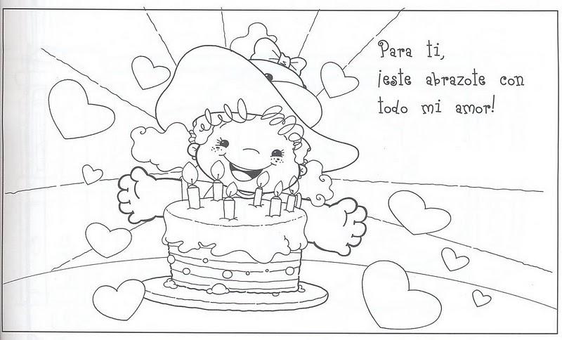 Tarjetas De Cumpleaños Para Una Amiga Para Colorear