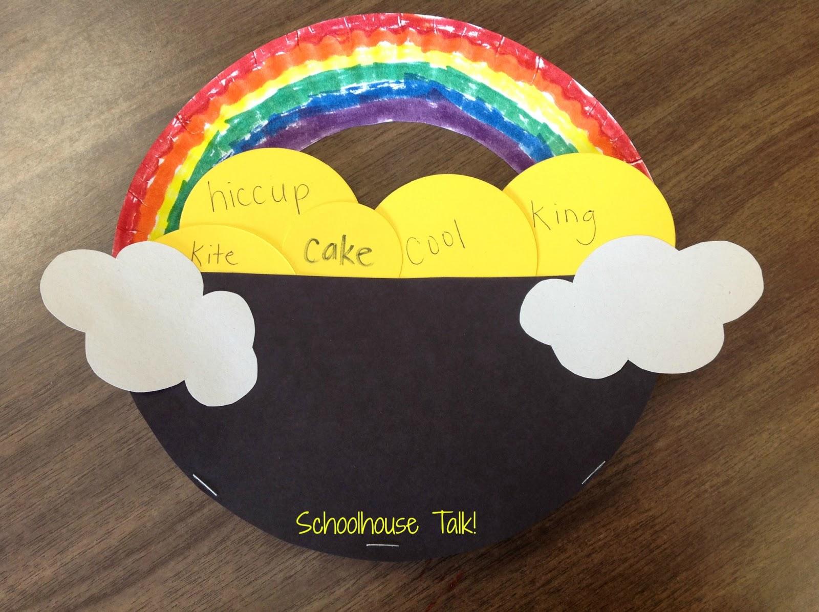Schoolhouse Talk Pot Of Gold Speech Rainbows