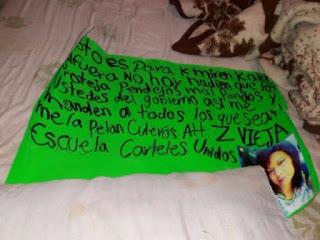"""""""EL AGUILA"""" EXMILITAR FIRMA EN CARTELES ZETAS Cartulina5"""